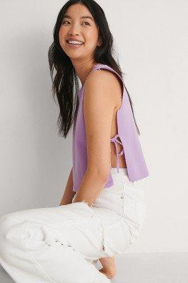 Trendyol Trendyol Side Tie Top - Purple