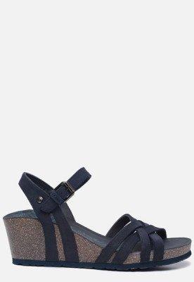 Panama Jack Panama Jack Vera Basics B7 sandalen met sleehak blauw