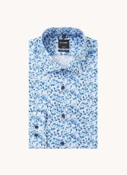 Olymp Olymp Modern fit overhemd met bloemenprint