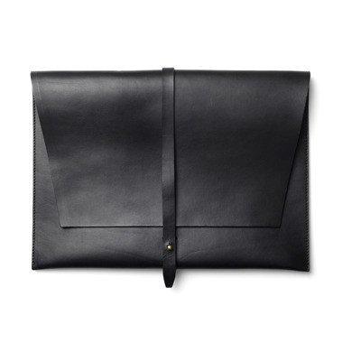 """Stolbjerg Copenhagen Computersleeve 15 """"leather with brass details"""