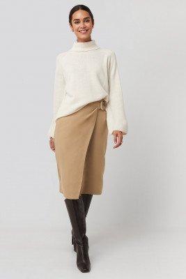 Trendyol Trendyol Cream Belt Detailed Skirt - Beige