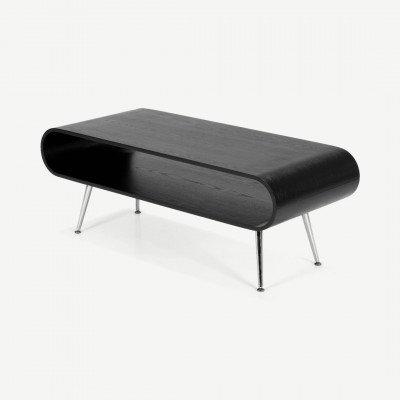 MADE.COM Hooper salontafel met opbergruimte, zwart