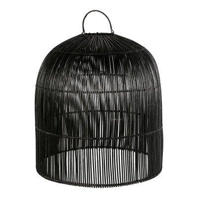 Firawonen.nl Ptmd colby rattan zwarte lampenkap gesloten bovenk