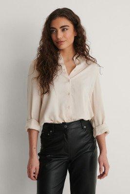 NA-KD NA-KD Shirt - Offwhite