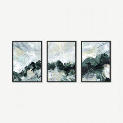 MADE.COM Natural Exploration, set van 3 ingelijste prints, door Jetty Home, A3