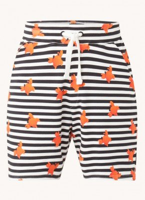 Snurk Snurk Pyjamashorts met print en steekzakken