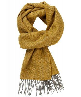 Profuomo Profuomo heren gele wollen-cashmere sjaal