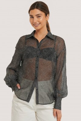 NA-KD Trend NA-KD Trend Balloon Sleeve Structured Rose Blouse - Black