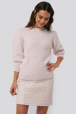 NA-KD NA-KD Quilted PU Skirt - Pink