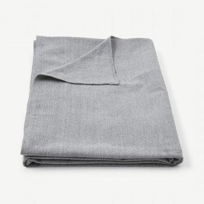 MADE.COM Original Home tafelkleed van 100% gerecycled katoen, 300 x 165 cm, grijs
