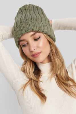 NA-KD Accessories NA-KD Accessories Oversize Chunky Beanie - Green