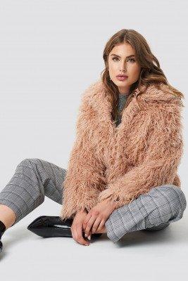 NA-KD NA-KD Faux Fur Short Jacket - Pink