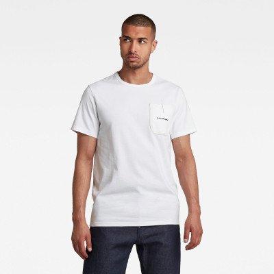G-Star RAW Pocket Logo T-Shirt - Wit - Heren