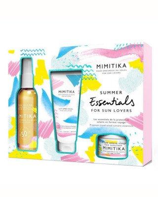 Mimitika Mimitika - Summer Essentials Kit with Oil SPF50 - 2 x 50 ml + 10 ml