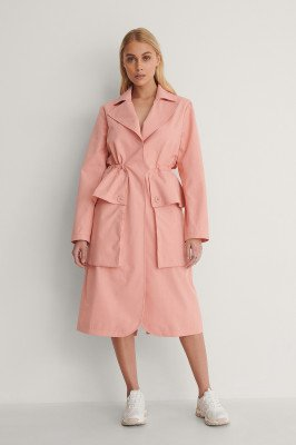 NA-KD NA-KD Trenchcoat - Pink