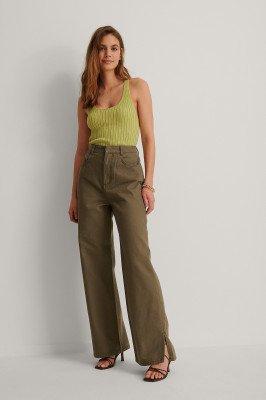 NA-KD Trend NA-KD Trend Organisch Denim Pantalon - Brown