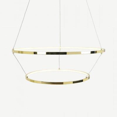 MADE.COM Evita statement LED hanglamp, messing