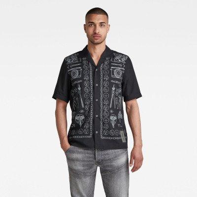 G-Star RAW Hawaiian Service Regular Shirt - Zwart - Heren