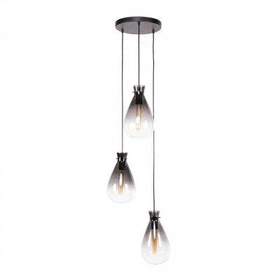 LifestyleFurn LifestyleFurn Hanglamp 'Nugget Shaded' 3-lamps Ø18cm