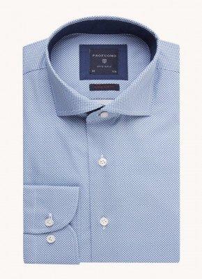Profuomo Profuomo Super slim fit overhemd met microdessin