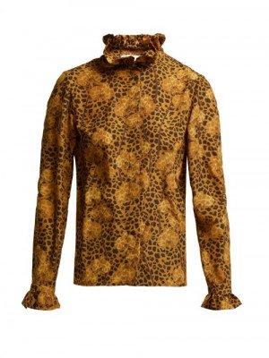 Matchesfashion Borgo De Nor - Veronica Leopard-print Blouse - Womens - Leopard