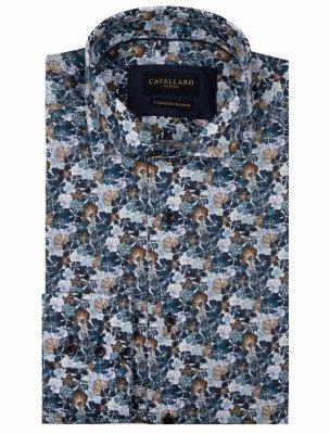 Cavallaro Napoli Cavallaro Napoli Heren Overhemd - Florando Overhemd - Donkerblauw