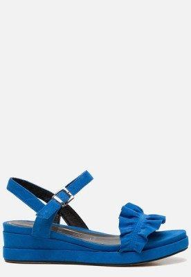 tamaris Tamaris Sandalen met sleehak blauw