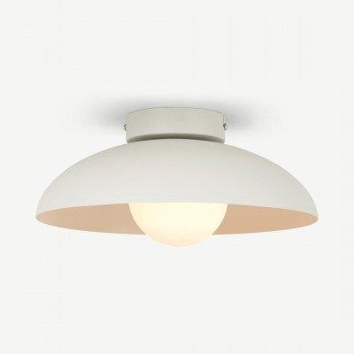 MADE.COM Malta badkamer inbouwplafondlamp, warmgrijs en opaalglas