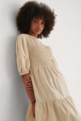 Trendyol Trendyol Gesmockt Mini-jurk - Beige