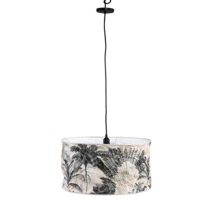 Firawonen.nl Ptmd jamilia bruin papieren plafondlamp veer wijd