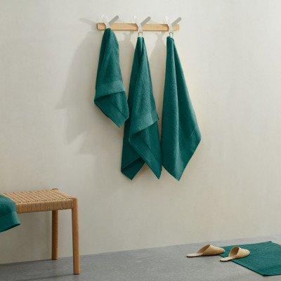MADE.COM Kacee set van 2 badlakens van 100% katoen, 100 x 150 cm, donkerturkoois