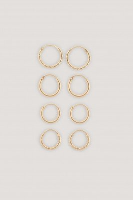 NA-KD Accessories Mini Hoop Earring Set - Gold