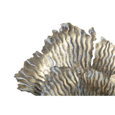 Firawonen.nl PTMD Devine Gold metalen LED lamp koraal bladeren