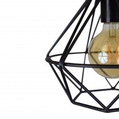Urban Interiors Urban Interiors plafondlamp 'Wire' Ø22cm, kleur Vintage Black
