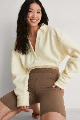 Beyyoglu Beyyoglu Bijgesneden Sweater - White