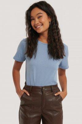 NA-KD Basic Basic T-Shirt - Blue