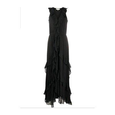 Michael Kors Solid Ruffle Maxi jurk Jurken