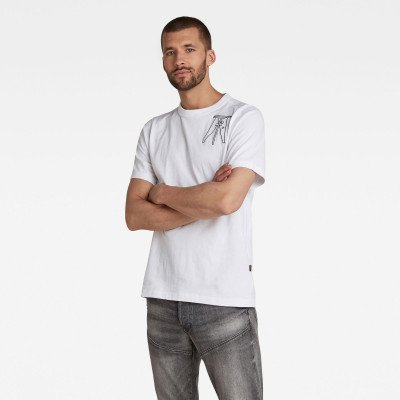 G-Star RAW Multi Object Graphic T-Shirt - Wit - Heren