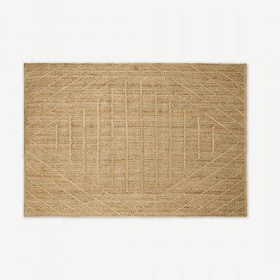 MADE.COM Aminatta vloerkleed, groot, 160 x 230 cm, jute