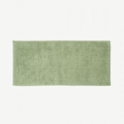 MADE.COM Aire badmat, 100% katoen, extra lang, 50 x 110 cm, lichtgroen