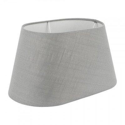 Xenos Lampenkap linnen ovaal - grijs - 30x16 cm