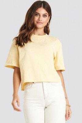 NA-KD Basic Oversized T-Shirt - Yellow