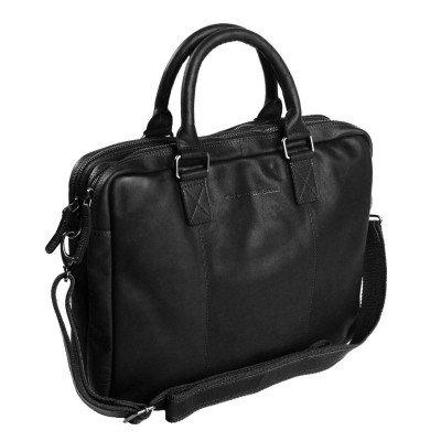 Chesterfield Chesterfield Bags Leren Laptoptas 15 inch Floris Black