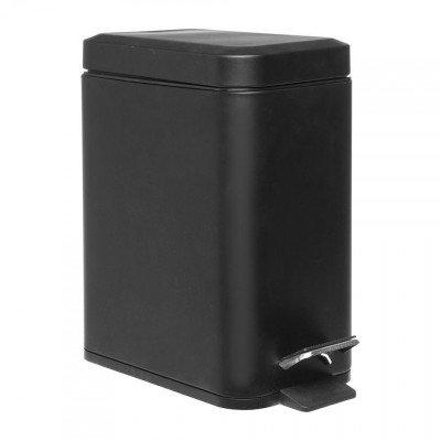 Xenos Pedaalemmer rechthoek - 5 liter - zwart