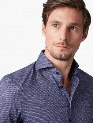Cavallaro Napoli Cavallaro Napoli Heren Overhemd - Frizo Overhemd - Donkerblauw