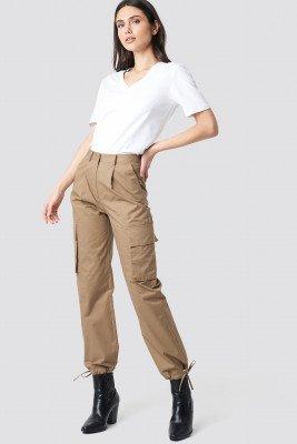 NA-KD Trend NA-KD Trend Cargo Wide Leg Pants - Beige