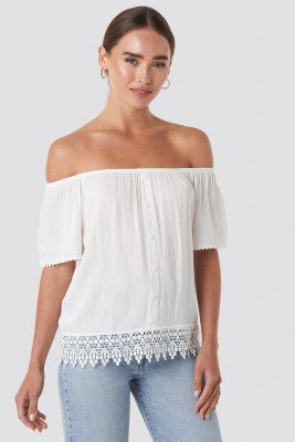 Trendyol Trendyol Bora Off Shoulder Top - White