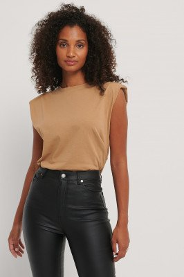 Trendyol Basic T-Shirt - Brown