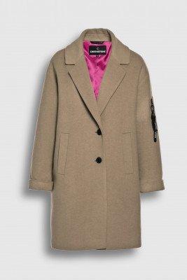 Creenstone Creenstone Wool cashmere blazer coat - Milky Cocoa