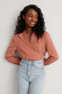 NA-KD Trend NA-KD Trend Blazer Met Omslag - Orange
